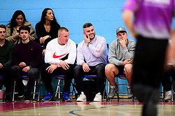 Bristol Bears players watch the game - Photo mandatory by-line: Ryan Hiscott/JMP - 17/01/2020 - BASKETBALL - SGS Wise Arena - Bristol, England - Bristol Flyers v London City Royals - British Basketball League Championship