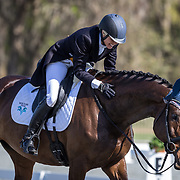 Jennie Jarnstrom (SWE) and Calicia Z at the Red Hills International Horse Trials in Tallahassee, Florida.