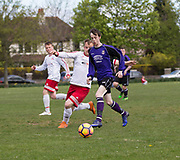 - FC Polonia (white and red) v Dundee Argyle (purple) in Dundee Sunday FA Association Cup semi final at Fairmuir, Dundee, Photo: David Young<br /> <br />  - &copy; David Young - www.davidyoungphoto.co.uk - email: davidyoungphoto@gmail.com