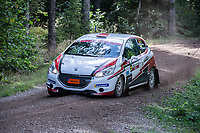 2019-09-07 | Linköping, Sweden: Victor Hansen / Victor Johansson during East Rally Sweden / Rally SM  at Linköping ( Photo by: Simon Holmgren | Swe Press Photo )<br /> <br /> Keywords: Linköping, Linköping, Rally, East Rally Sweden / Rally SM, ,