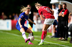 Yana Daniels of Bristol City is challenged by Erin Cuthbert of Chelsea Women - Mandatory by-line: Ryan Hiscott/JMP - 29/09/2019 - FOOTBALL - SGS College Stoke Gifford Stadium - Bristol, England - Bristol City Women v Chelsea Women - FA Women's Super League