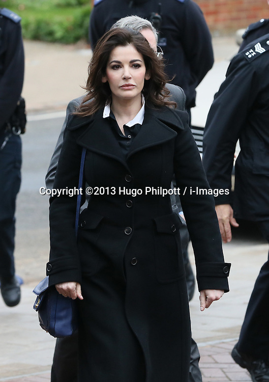The TV Chef Nigella Lawson arrives at Isleworth Crown Court. London, United Kingdom. Wednesday, 4th December 2013. The TV chef is expected to testify today at trial for Francesca and Elisabetta Grillo, who appear charged with fraud after allegedly using a company credit card to defraud the TV chef and her former husband out of £300,000. Picture by Hugo Philpott / i-Images<br />