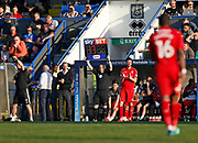 Johnnie Jackson of Charlton Athletic waits to come on during the EFL Sky Bet League 1 match between Rochdale and Charlton Athletic at Spotland, Rochdale, England on 5 May 2018. Picture by Paul Thompson.