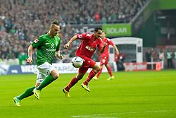 05.11.2011, Weser Stadion, Bremen, GER, 1.FBL, Werder Bremen vs 1.FC Köln, im Bild Marko Arnautovic (Bremen #7) im Laufduell mit Ammar Jemal (Koeln / Köln #3) // during the match GER, 1.FBL, Werder Bremen vs 1.FC Koeln on 2011/11/05, 12. matchday, Weser Stadion, Bremen, Germany. EXPA Pictures © 2011, PhotoCredit: EXPA/ nph/  Gumz       ****** out of GER / CRO  / BEL ******