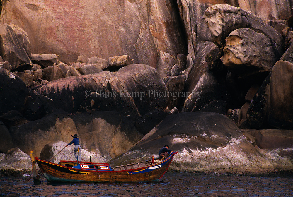 Fishing boat near an island of Nha Trang, Vietnam