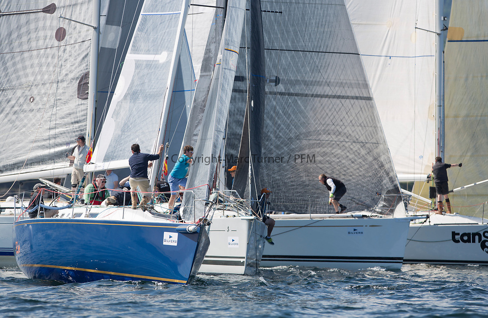 Silvers Marine Scottish Series 2017<br /> Tarbert Loch Fyne - Sailing<br /> <br /> Close racing in the RC35 Class , IRL29213, Something Else, Hall/McDonnell, National YC, J109