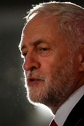 © Licensed to London News Pictures. 09/04/2018. London, UK. Labour Party leader JEREMY CORBYN speaking at the launch event for the Labour Party local election campaign launch in central London.  Labour are expected to make gains in the capital, potentially taking traditionally Conservative strongholds. Photo credit: Ben Cawthra/LNP