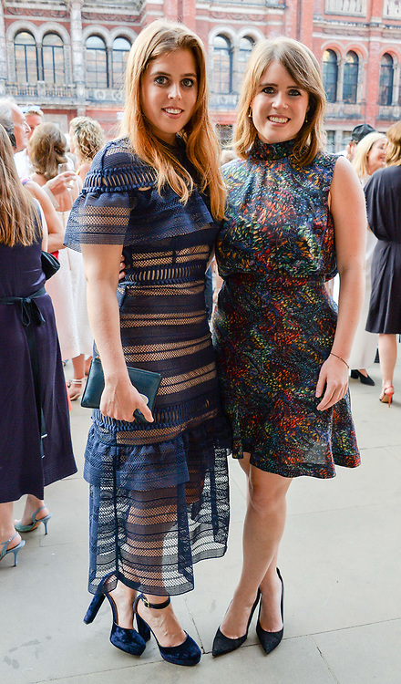 Princess Beatrice Of York and Princess Eugenie Of York at the V&A Summer Party 2017 held at the Victoria & Albert Museum, London England. 21 June 2017.