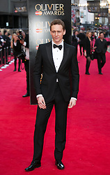 Tom Hiddleston  attends The Laurence Olivier Awards at the Royal Opera House, London, United Kingdom. Sunday, 13th April 2014. Picture by Daniel Leal-Olivas / i-Images