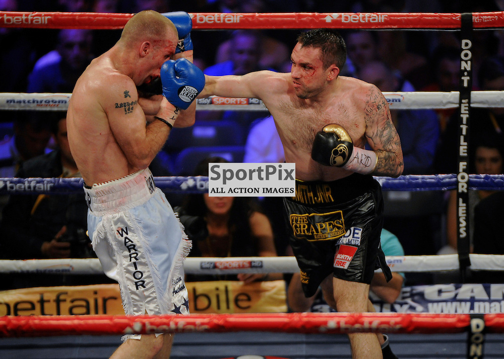 Tony Dodson (White Trunks) v Paul Smith (Black Trunks) Boxing USN Bolton Arena 29 June 2013 (c) Greig Bertram | SportPix.org.uk