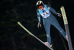 Nita Englund of USA soaring through the air during Trial Round at Day 1 of World Cup Ski Jumping Ladies Ljubno 2019, on February 8, 2019 in Ljubno ob Savinji, Slovenia. Photo by Matic Ritonja / Sportida