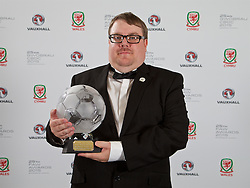 CARDIFF, WALES - Monday, October 5, 2015: FAW Fair Play Award winner Welsh League Division Three Bridge Street FC during the FAW Awards Dinner Dinner at Cardiff City Hall. (Pic by David Rawcliffe/Propaganda)