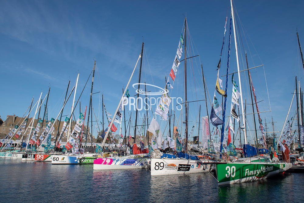 Class40 during the Route du Rhum 2018, on November 3rd, in Saint Malo, France, before the Route du Rhum sailing race to start on November 4th 2018 - Photo Olivier Blanchet / ProSportsImages / DPPI