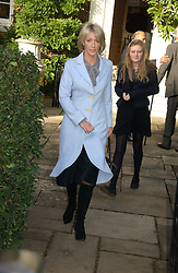 LADY COSIMA SOMERSET at the wedding of Lucy Ferry to Robin Birley held at Ormsby Lodge, Ham Gate Avenue, Ham, Surrey on 26th October 2006.<br />