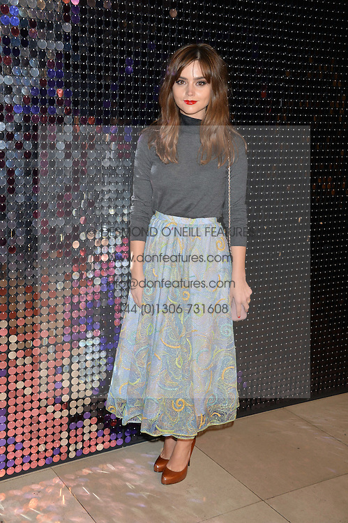 JENNA-LOUISE COLEMAN at a private view of Isabella Blow: Fashion Galore! held at Somerset House, London on 19th November 2013.