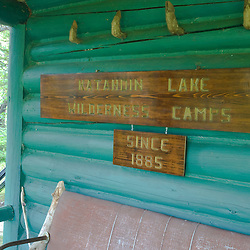 The Katahdin Lake Wilderness Camps in Maine's Baxter State Park.
