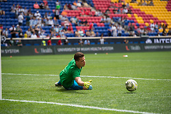 July 28, 2018 - Harrison, New Jersey, United States - Juventus goalkeeper WOJCIECH SZCZĘSNY (1) warms up during the International Champions Cup at Red Bull Arena in Harrison, NJ.  Juventes vs Benfica (Credit Image: © Mark Smith via ZUMA Wire)