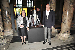 PAT & GEORGINA WADE parents of Jennifer Wade at a private view of a new collection of bronzes and original paintings by artist Jonathan Wylder and his muse Jennifer wade held at the V&A Museum, London on 27th April 2011.