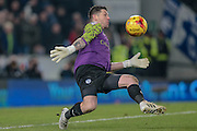 Keiren Westwood (Sheffield Wednesday) makes a save during the Sky Bet Championship match between Hull City and Sheffield Wednesday at the KC Stadium, Kingston upon Hull, England on 26 February 2016. Photo by Mark P Doherty.