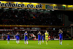 Chelsea thank the fans after they win the match 1-4 - Mandatory byline: Rogan Thomson/JMP - 07966 386802 - 23/09/2015 - FOOTBALL - Bescot Stadium - Walsall, England - Walsall v Chelsea - Capital One Cup.