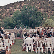 Outdoor wedding ceremoney.