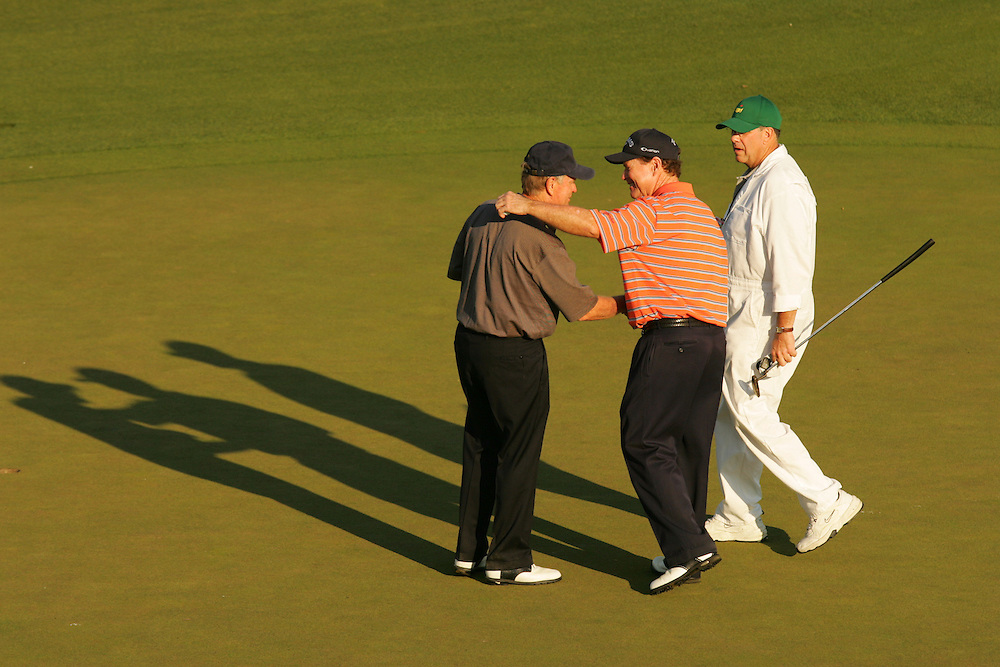 Tom Watson.Jack Nicklaus..2005 Masters Tournament.Practice round.Tuesday, April 5 2005.Augusta National GC.Augusta, GA..4-5-05..photograph by Darren Carroll.4-8-05