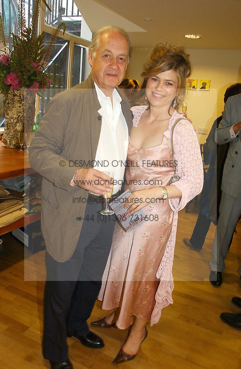 SIR JOHN & LADY LEON he is actor John Standing and she is Sarah Forbes daughter of Brian Forbes and Nanette Newman at an exhibition of art by Oscar Humphries entitles 'Post-Nuclear Family' held at Nutters, Lower Ground, 12 Savile Row, London on 8th June 2006.<br /><br />NON EXCLUSIVE - WORLD RIGHTS