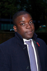 © Licensed to London News Pictures. 29/10/2012. LONDON, UK. Former UBS banker Kweku Adoboli leaves Southwark Crown Court in London today (29/10/12). Photo credit: Matt Cetti-Roberts/LNP