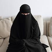 Arhus, Denmark, April 15, 2010. Sumayyah, Danish, 31 years old converted to Islam in August 2007.