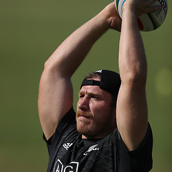 PRETORIA, SOUTH AFRICA - OCTOBER 05: Nathan Harris of the New Zealand (All Blacks) during the Rugby Championship New Zealand All Blacks captain's run at St David's Marist Inanda 36 Rivonia Rd, Sandown, Sandton,on October 5, 2018 in Pretoria, South Africa. (Photo by Steve Haag/Getty Images)