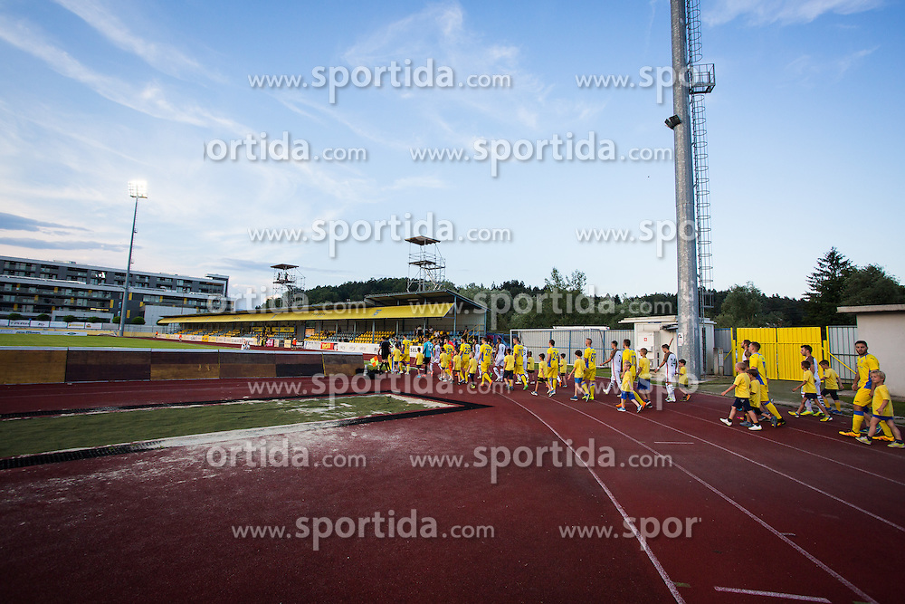 Players during football match between NK Domzale and FC Lusitanos Andorra in first match of UEFA Europa League Qualifications, on June 30, 2016 in Sports park Domzale, Domzale, Slovenia. Photo by Ziga Zupan / Sportida