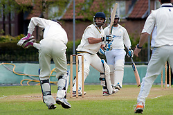 Cricket Wickersley v Whitley Hall,  Wickersley No 2 batsman  Headir Jounger ..12  May 2012.Image © Paul David Drabble
