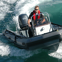 Santa Monica Police Sergeant Mike Braaten drives a during a rescue training drill on Tuesday, January 3, 2012.
