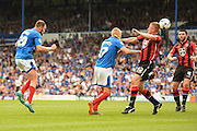 Portsmouth's Matthew Clarke misses another chance late in the game during the Sky Bet League 2 match between Portsmouth and Morecambe at Fratton Park, Portsmouth, England on 22 August 2015. Photo by David Charbit.