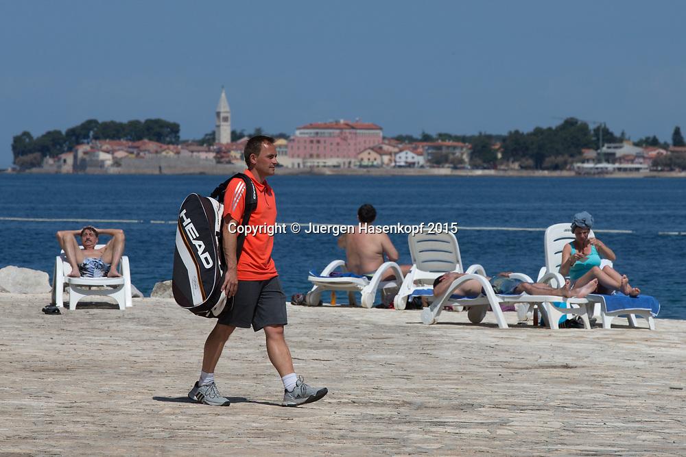 Zischka Tennis Camp Lanterna, Novigrad, Istrien, Kroatien<br /> <br /> travel - Zischka Tennis Camp Lanterna -  -  Lanterna - Novigrad -  - Croatia  - 17 May 2015. <br /> &copy; Juergen Hasenkopf