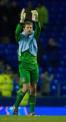LIVERPOOL, ENGLAND - Thursday, December 17, 2009: Everton's goalkeeper Carlo Nash after the 1-0 defeat to FC BATE Borisov during the UEFA Europa League Group I match at Goodison Park. (Pic by David Rawcliffe/Propaganda)