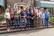 Het kabinet houdt een informeel overleg in Hotel Bos en Ven in Oisterwijk, dat tijdens de Tweede Wereldoorlog dienst deed als hoofdkwartier van het toenmalige kabinet. <br /> <br /> Op de foto: Het Kabinet Rutte-III
