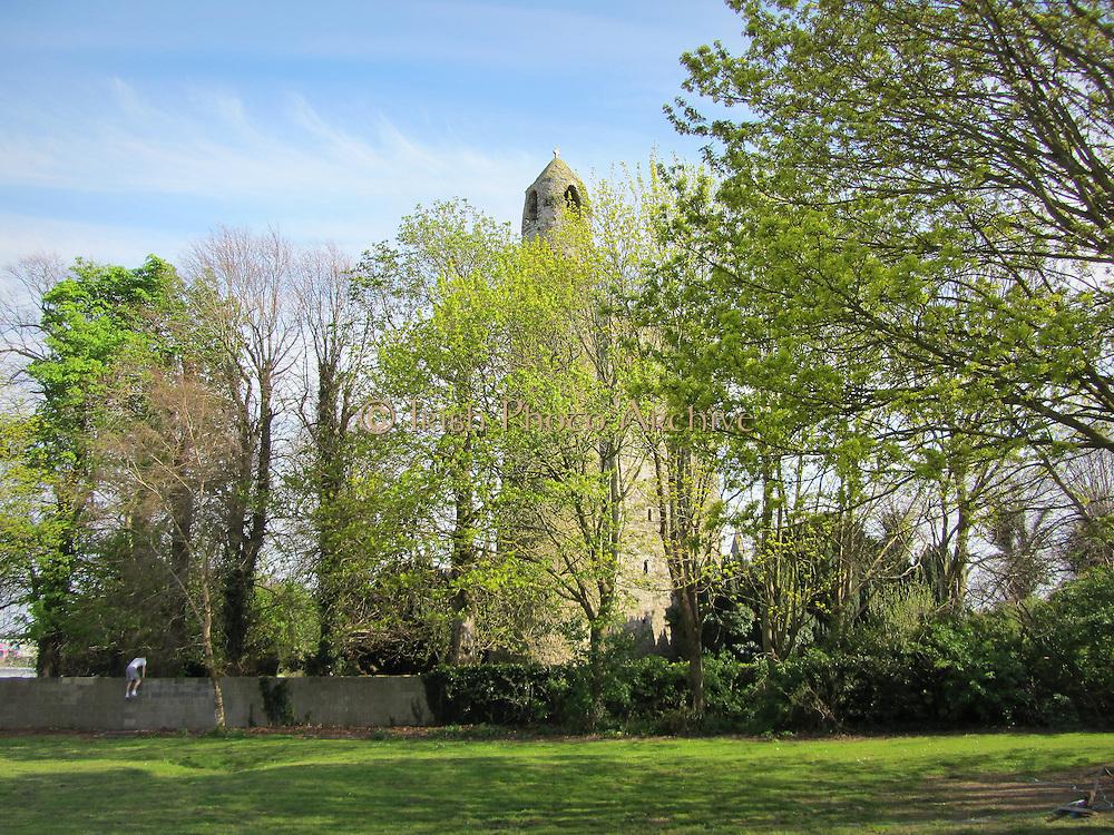 Swords round tower, Dublin, Ireland