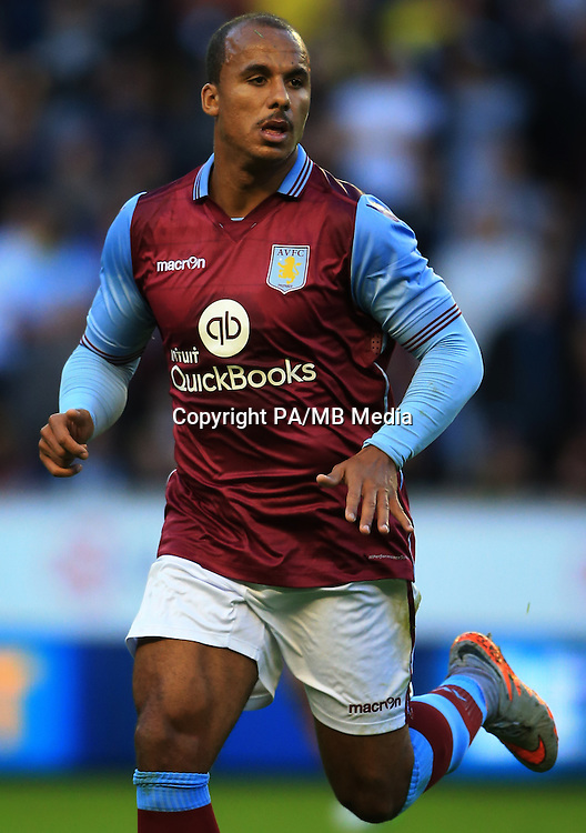Aston Villa's Gabby Agbonlahor  during the pre-season friendly at Molineux, Wolverhampton.
