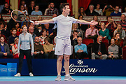 Strictly Come Dancing star Anton du Beke during a celebrity doubles match at the Men's Singles Final Champions Tennis match at the Royal Albert Hall, London, United Kingdom on 9 December 2018. Picture by Ian Stephen.
