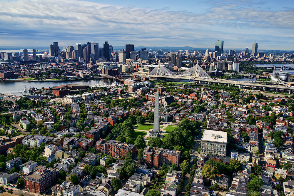 Charlestown (foreground) with Downtown Boston & Back Bay