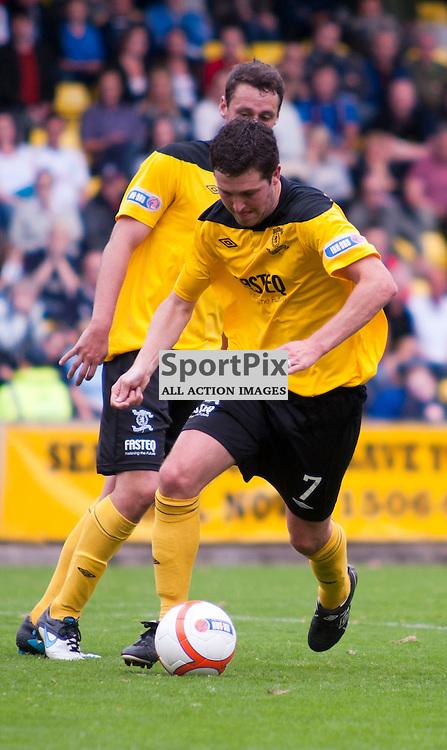 Livingston captain Liam Fox, Livingston v Falkirk, SFL Division 1