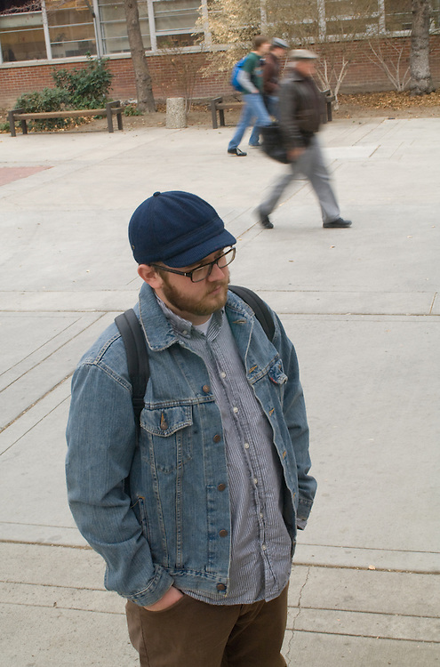 24-year-old Brian Boomer (cq), an English major, stands outside Frandsen Hall on the campus of the University of Nevada, Reno, Monday afternoon, Nov. 26, 2007...Photo by David Calvert