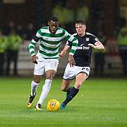 20th September 2017, Dens Park, Dundee, Scotland; Scottish League Cup Quarter-final, Dundee v Celtic; Celtic's Olivier Ntcham goes past Dundee's Lewis Spence