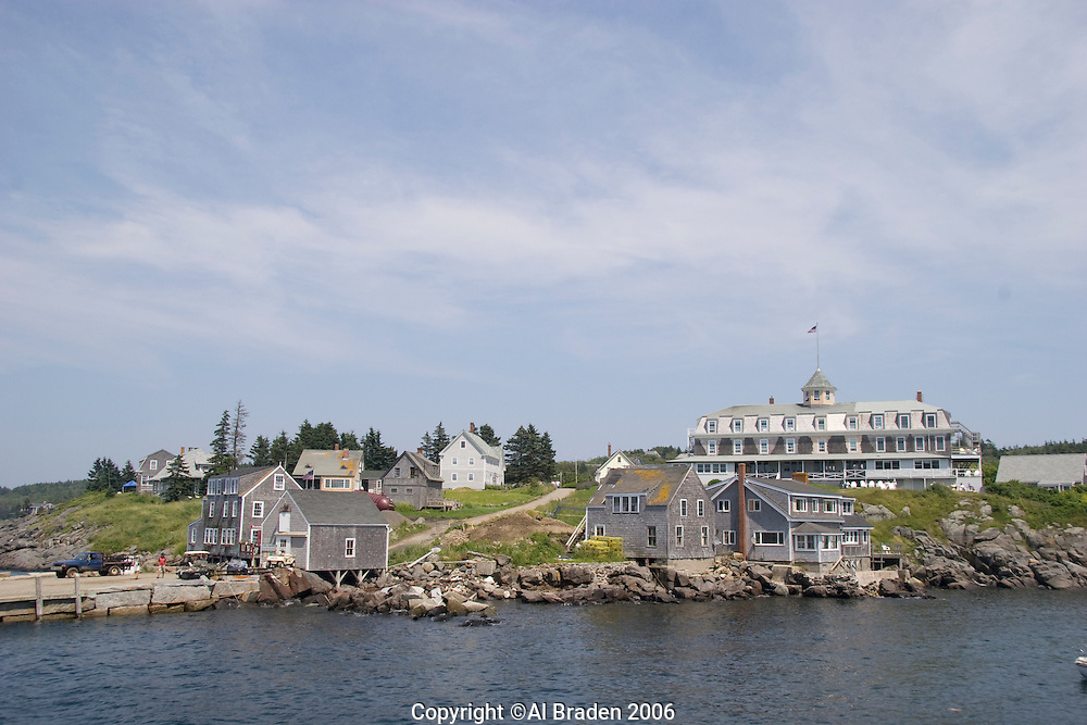 Village and harbor on Monhegan Island, Maine