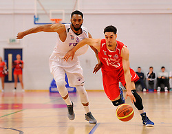 Bristol Flyers' Roy Owen drives forward  - Photo mandatory by-line: Joe Meredith/JMP - Mobile: 07966 386802 - 18/04/2015 - SPORT - Basketball - Bristol - SGS Wise Campus - Bristol Flyers v Leeds Force - British Basketball League