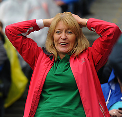 Mayo fan going through the final stages the All Ireland Semi Final against Kerry at Croke Park.<br /> Pic Conor McKeown