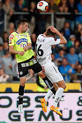 16.05.2015, Stadion Wolfsberg, Wolfsberg, AUT, 1. FBL, RZ Pellets WAC vs SK Puntigamer Sturm Graz, 33. Runde, im Bild v.l. Anel Hadzic (SK Sturm Graz) und Boris Hüttenbrenner (RZ Pellets WAC) // during the Austrian Football Bundesliga 33rd Round match between RZ Pellets WAC and Sturm Graz at the Stadium Wolfsberg in Wolfsberg Austria on 2015/05/16, EXPA Pictures © 2015, PhotoCredit: EXPA/ Wolfgang Jannach