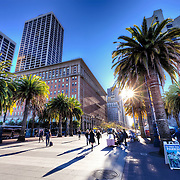 Near the Embarcadero and Market Street in downtown San Francisco, CA.