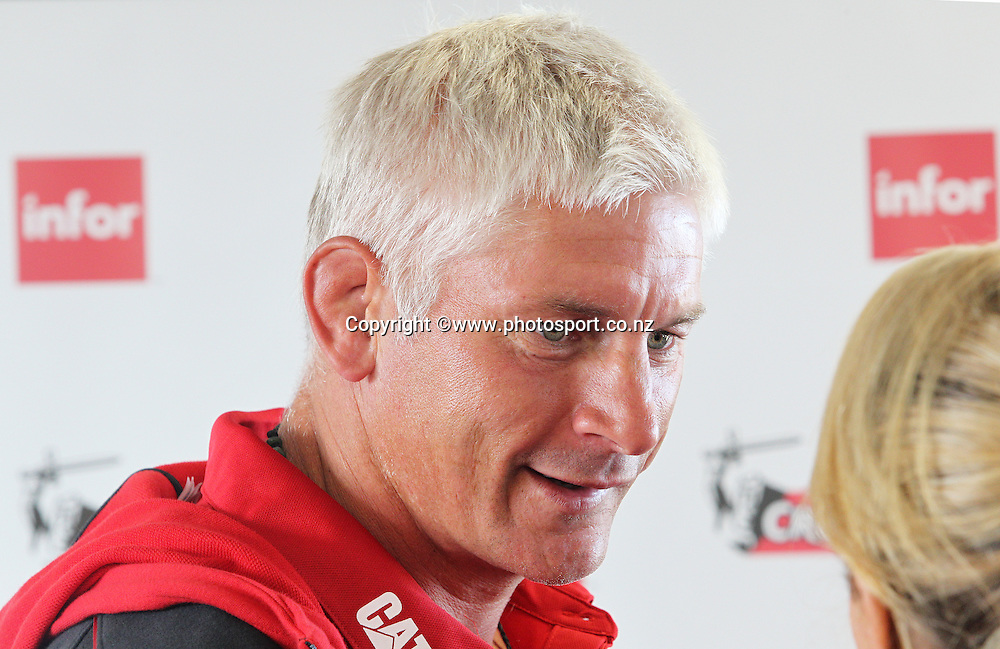 Todd Blackadder coach of the Crusaders at a Crusaders back Sponsor announcement of infor and Crusaders captains run training session held at AMI Stadium, Christchurch. 12 February 2015 Photo: Joseph Johnson / www.photosport.co.nz